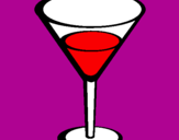 Coloring page Cocktail painted byamy