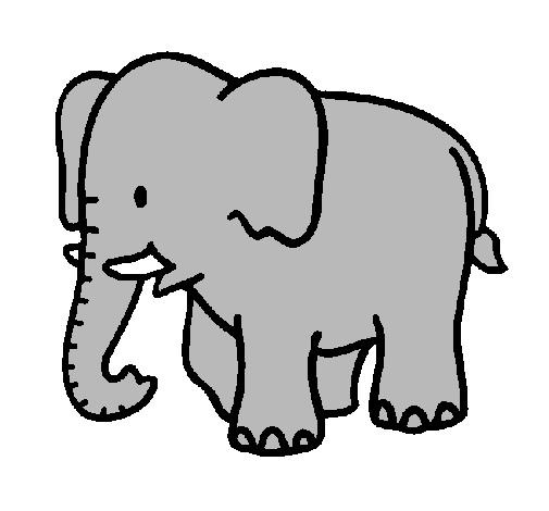By Sallies Birthday Cake Coloring Page Baby Elephant Painted Bycarlita