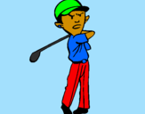 Coloring page Golf painted byfatima