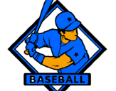 Coloring page Baseball logo painted byraymond sanchez