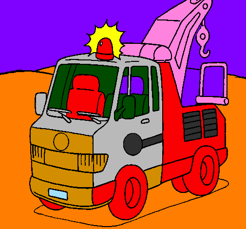 Coloring page Tow truck painted bylkhgfjfhjvjhng55555555555