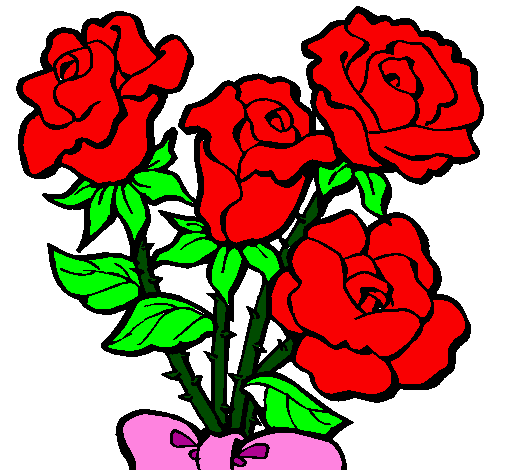 Coloring page Bunch of roses painted bysteve