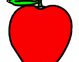 Coloring page apple painted byjudit   bemanv mt