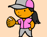 Coloring page Baseball player painted bycottie