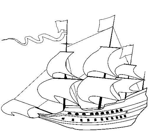 17th century sailing boat
