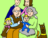 Coloring page Family  painted byMarga