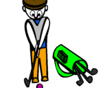 Coloring page Golf II painted byalahna