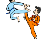 Coloring page Karate painted byjalesh