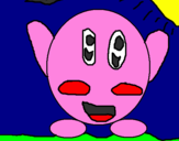 Coloring page Kirby painted bystephanie cancel roman