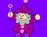 Coloring page Little witch painted bypalencia