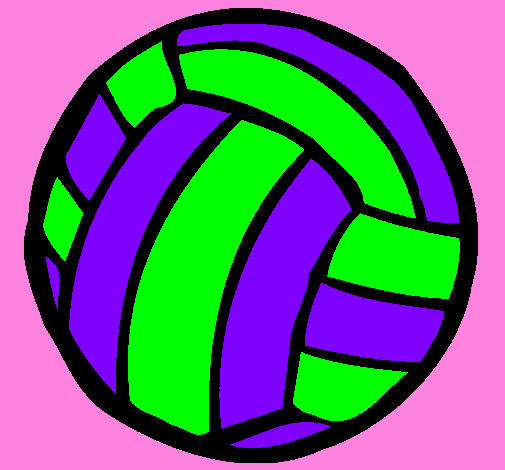 Coloring page Volleyball ball painted byBRIANNA V.