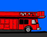 Coloring page Fire engine with ladder painted byethan
