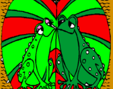 Coloring page Frogs in love painted byclaudia