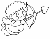 Coloring page Cupid painted byanna