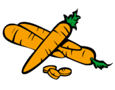 Coloring page Carrots II painted byemily