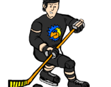 Coloring page Ice hockey player painted byJJ