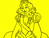 Coloring page Royal princess painted byCYNHIA,