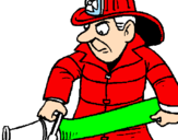 Coloring page Firefighter painted bysergio