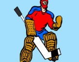 Coloring page Goaltender painted byChas