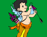 Coloring page Cupid painted byfany
