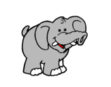 Coloring page Elephant painted bylucky189