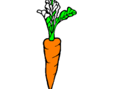 Coloring page carrot painted bygenesis