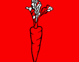 Coloring page carrot painted byy}fjmv