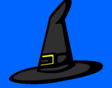 Coloring page Witch's hat painted bydarielys