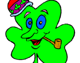 Coloring page Lucky clover painted bytravis