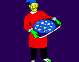 Coloring page Cook painted byelisa