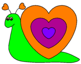 Coloring page Heart snail painted byhumberto