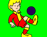 Coloring page Football painted bysara y daniel