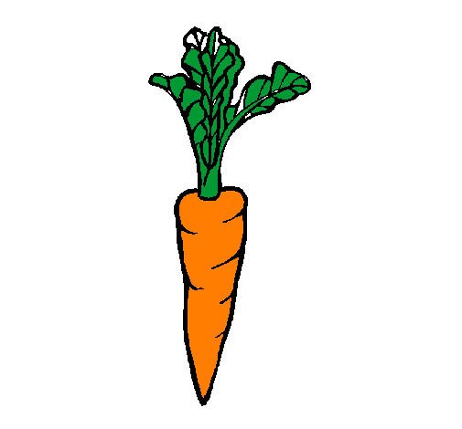 Coloring page carrot painted byFUERA INGLATERRA ESPAÑA