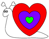 Coloring page Heart snail painted byCARLOS