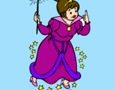Coloring page Fairy godmother painted byolivia