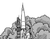 Coloring page Rocket launch painted bycynthia