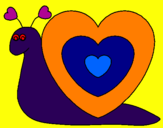 Coloring page Heart snail painted bykhrist