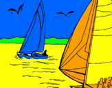 Coloring page Sails at high sea painted bygabe