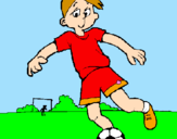 Coloring page Playing football painted byDennisse