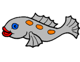Coloring page Fish painted byMadison