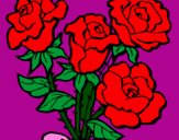 Coloring page Bunch of roses painted bylucasnr