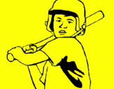 Coloring page Little boy batter painted bydanya brooks