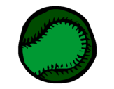 Coloring page Baseball ball painted byJOSH