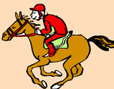 Coloring page Horse race painted byandreita