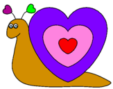 Coloring page Heart snail painted bycaiti