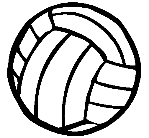 Coloring page Volleyball ball painted byhoilaz