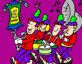 Coloring page Musical band painted byLAU