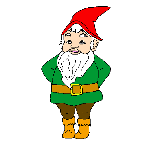 Coloring page Gnome painted byNot Available