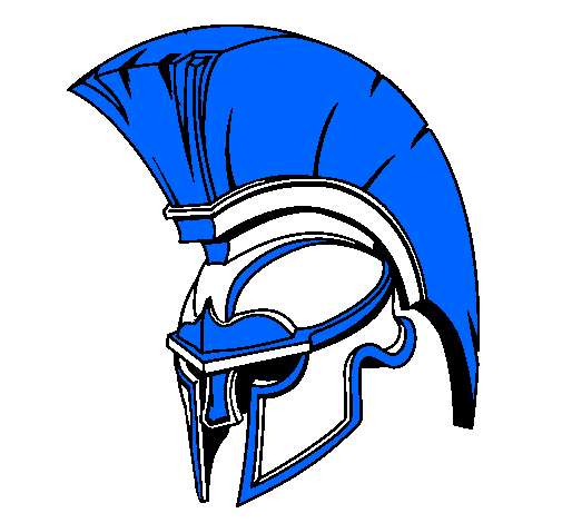 Coloring page Helmet painted byblue knight