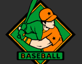 Coloring page Baseball logo painted bycheyn